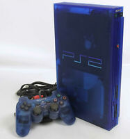 "PS2 OCEAN BLUE Console System SCPH-37000 J1395698 Tested Playstation 2 ""NTSC-J"""