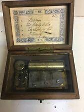 Antique Vintage Swiss Wood Music Box 4 -Airs