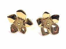 Kate Spade 12k Gold Plated Tortoise Brown Square Stud Earrings W Pouch