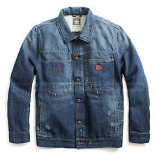 G-STAR RAW JEANS JACKET MEDIUM AGED BRAY DENIM OVERSHIRT BLAZER SIZE XL / L