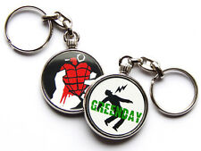 GREEN DAY American Rock Band Chrome Keyring Picture Both Sides