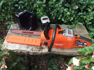 Echo CCS 58v Battery cordless brushless chainsaw Stihl/Husqvarna 2 batteries