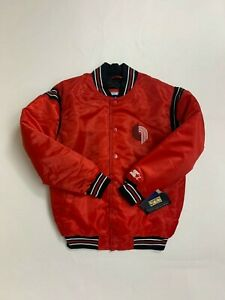 starter portland trailblazers youth satin jacket medium new with tags vintage