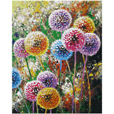 DIY Paint By Number Flowers Color Dandelions Acrylic Oil Painting On Canvas