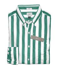 J Crew - Mens XL Slim Fit - NWT - Green Cabana Striped Secret Wash Casual Shirt