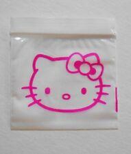 100 (Hello Kitty, Pink Cat) 2x2 Small Ziplock Baggies, 2020 Mini Poly Dime Bags