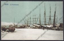 LA SPEZIA CITTÀ 102 PORTO BARCHE Cartolina viaggiata 1912