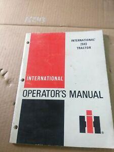 USED TRACTOR internatioal 284D OPERATORS MANUAL