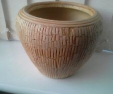 Ceramic Natural Beige Vase/Planter Mosaic Decorative Art Flower Table  modern