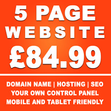 5 Page Website Design Service - Everything Included! - Professional Web Design