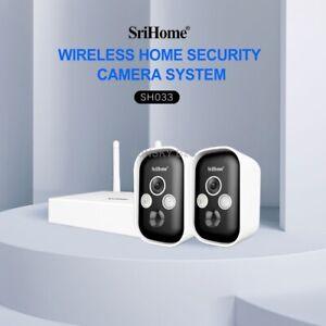 Srihome SH033 3MP 2PCS Wireless Battery Powered IP Camera Wireless Outdoor Smart