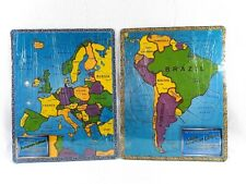 Lot of 2 A Broader View Continent Global Puzzle Map European and South America