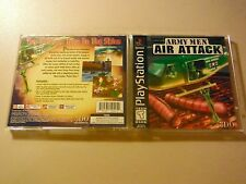 ARMY MEN AIR ATTACK BLACK LABEL PLAYSTATION 1 PS1 EX CONDITION COMPLETE!