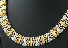 Reinheit VVS Sehr gute Echte Diamanten-Halsketten & -Anhänger im Collier-Stil aus Gelbgold