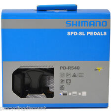 NEW 2017 Shimano PD-R540 SPD-SL Aluminum Road Pedals & Floating Cleats: BLACK