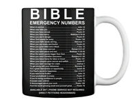 Easy-care - Bible Emergency Numbers When In Sorrow Man Fails You Gift Coffee Mug