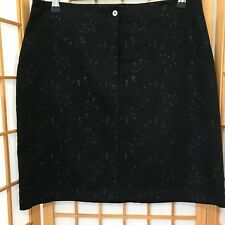 """""""THE WORKS"""" LADIES SIZE """"14"""" BLACK EMBROIDERED SKIRT"""
