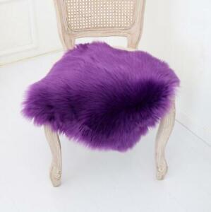 Soft Fluffy Chair Cover Seat Cushion Pad Mat Plush Fur Area Rug Home Carpet
