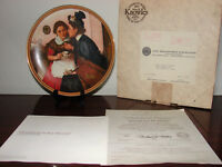 ANNIE AND GRACE COLLECTIBLE PLATE by Norman Rockwell -  KNOWLES Little Orphan