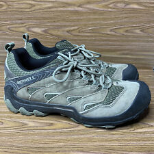Merrell Men's Size 10 Dusty Olive Hiking Shoes Brown Black Lace Up J12781