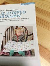 Child's Unisex Billie Striped Cardigan Knitting Pattern - 50-67cm Chest