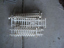 Lot of 12 Sections Vintage O Scale Plasticville White Fence Sections