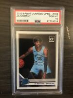 2019-20 Donruss Optic Ja Morant Rated Rookie PSA 10 Memphis Grizzlies RC