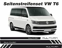 VW T6 Bus RAYAS LATERALES MULTIVAN PEGATINA KIT Decoración color deseado