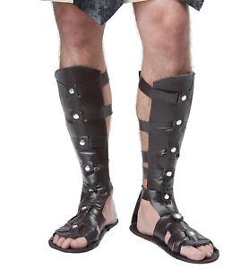 Gladiator Herculas Spartan Roman Greek Warrior Mens Costume Sandals Shoes