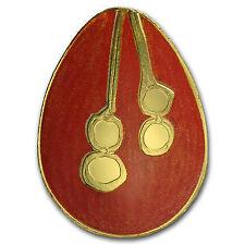 Palau 1/2 gram Golden Imperial Egg 2 w/Convex Shape Proof - SKU #94593