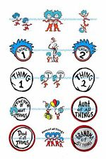 """DR. SEUSS THING 1 THING 2 15 1"""" BOTTLE CAP IMAGES   **FREE SHIPPING**"""