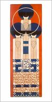 Secession Ausstellung Wien Plakat 1902 von Koloman Moser 21x58cm K&K 26