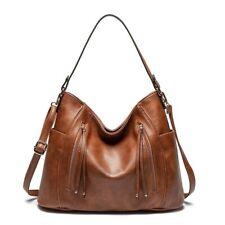 Fashion Leather Hobo Bag Women Soft Handbags Vintage Large Shoulder Bucket Bags
