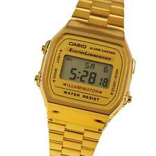 classic digital gold women's watch Casio golden retro women's watch a168wg-9ef