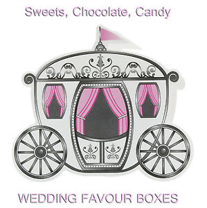 His & Hers Wedding Favours Box, Posh Carriage for Sweets, Chocolates Pack of 5