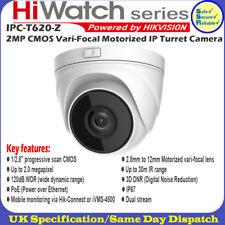 Hikvision hiwatch IPC-T620-Z 2MP obiettivo motorizzato VERIFOCAL 30mIR TELECAMERA IP A Torretta