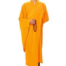 Haiqing Unisex Buddhist Meditation Lay Robe Monk Long Shaolin Monk Uniform New W