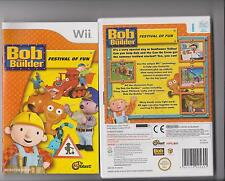 BOB THE BUILDER FESTIVAL OF FUN NINTENDO WII KIDS GAME