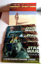 STAR WARS Episode 1 Wide-Vision Set of 80 Cards w Wrappers- FREE S&H (KATC)