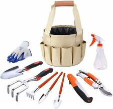 Garden Hand Tools Set Gardening Tool Kit Essentials With Storage Tote Bag