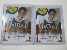 (2) 2013 LEAF SPORTS HEROES ANN MEYERS AUTOGRAPH ONLY FEMALE NBA CONTRACT PACERS