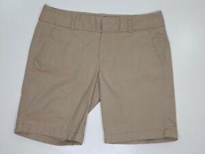 J Crew Womens Shorts Beige Khaki Frankie Cotton Stretch Size 6