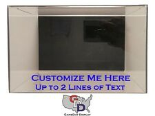 Shoe Pair Display Case Acrylic Wall Mount Size 12 and Under Create your own Text