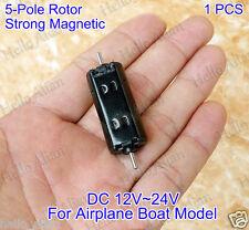 DC 12V 24V High Speed Strong Magnetic Dual Shaft 5-Pole Rotor Motor Elektromotor