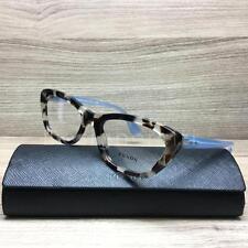 Prada VPR03Q Eyeglasses Spotted Opal Brown Sky Blue UAO-1O1 Authentic 52mm