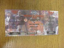 23/07/2000 Ticket: St Patricks Athletic v West Ham United [Festival Of Football]