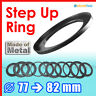 Step Up 77mm to 82mm Filter Ring Adapter Mount 77-82mm Thread CPL UV ND Metal