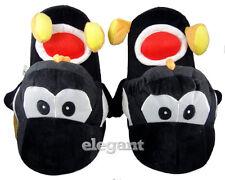 "Nintendo Super Mario Brothers Bros Black Yoshi Adult 11"" Soft Plush Slipper"