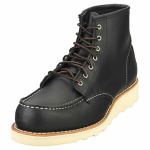 Red Wing 6-inch Classic Moc Femme Black Cuir Bottes Classique