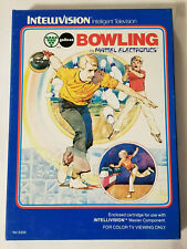 Intellivision Bowling by Mattel: Cartridge, Overlays, Instruction and Box